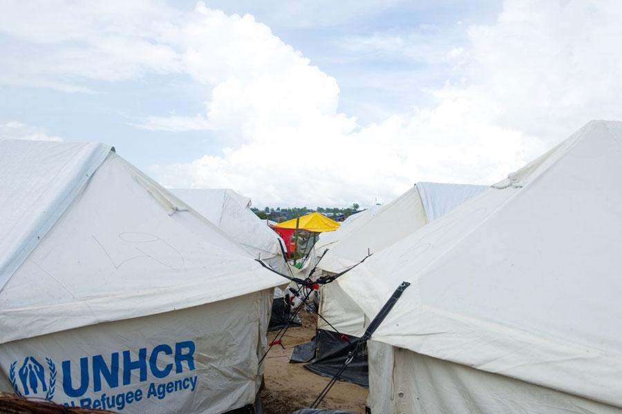 Rohingya refugee camps at Kutupalong camp Bangladesh