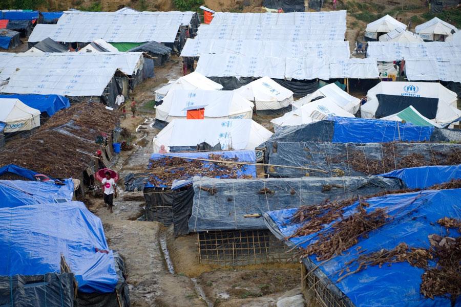 Rohingya refugee tents in Kutupalong Bangladesh