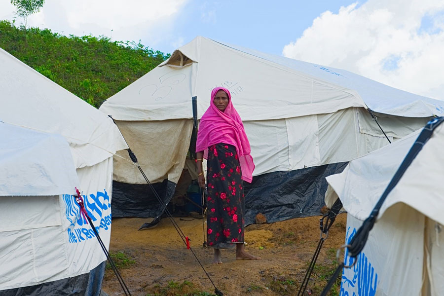 Rohingya women refugee at Kutupalong camp Bangladesh