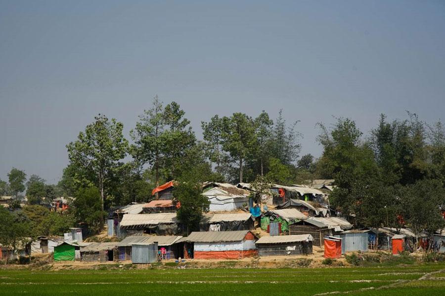 shelter tent house of refugees at Kutupalong camp Coxs Bazaar Bangladesh