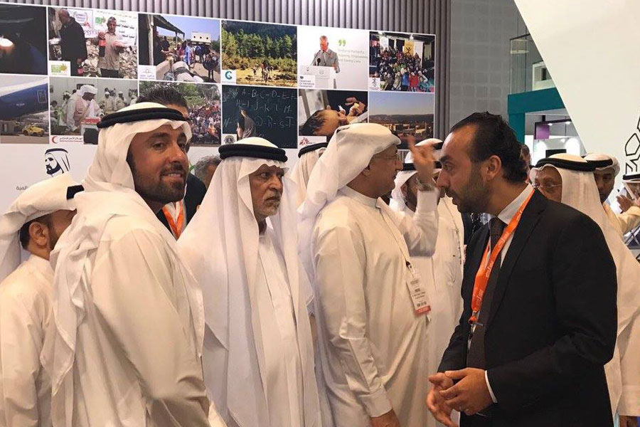 UAE Locals at NRS Relief booth in DIHAD 2017 event