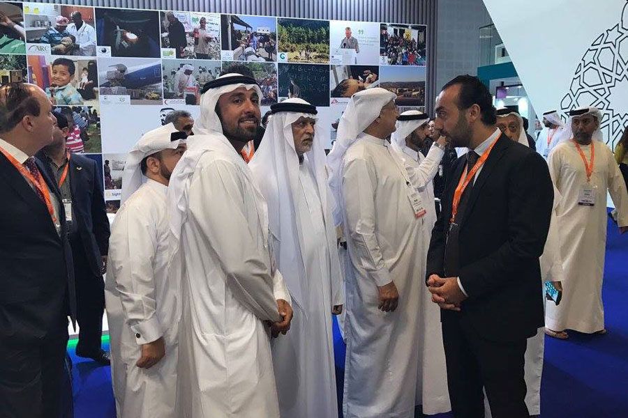 UAE Locals visiting NRS Relief booth at DIHAD 2017