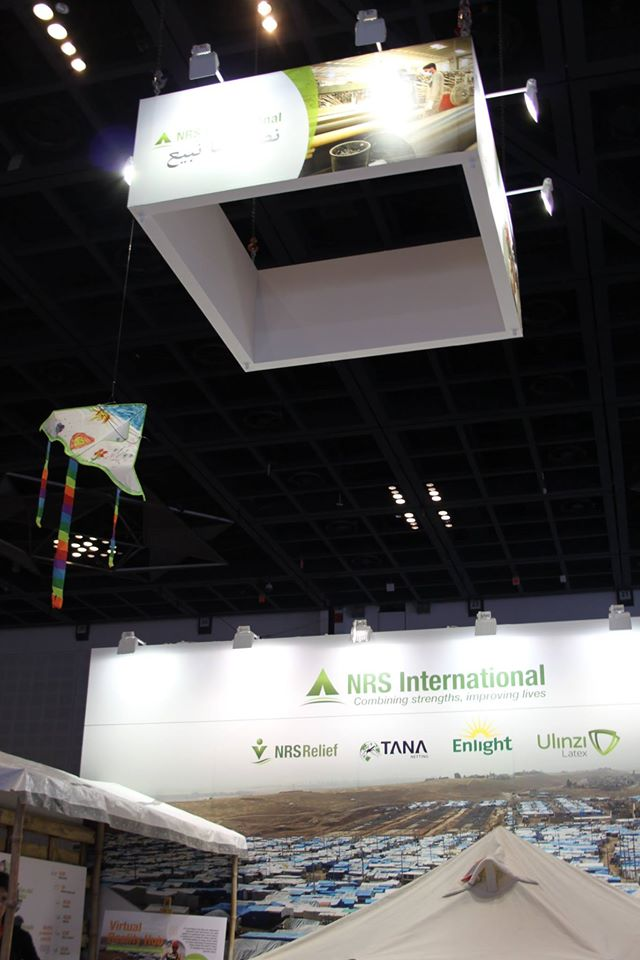 upper billboard of NRS Relief at DIHAD 2017 event