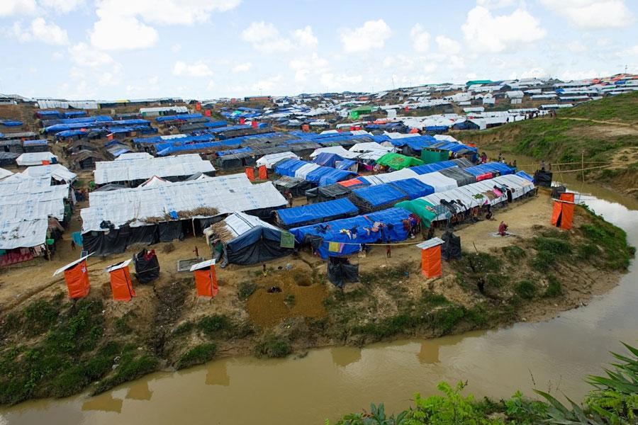 camps of Rohingya refugees at Kutupalong Bangladesh