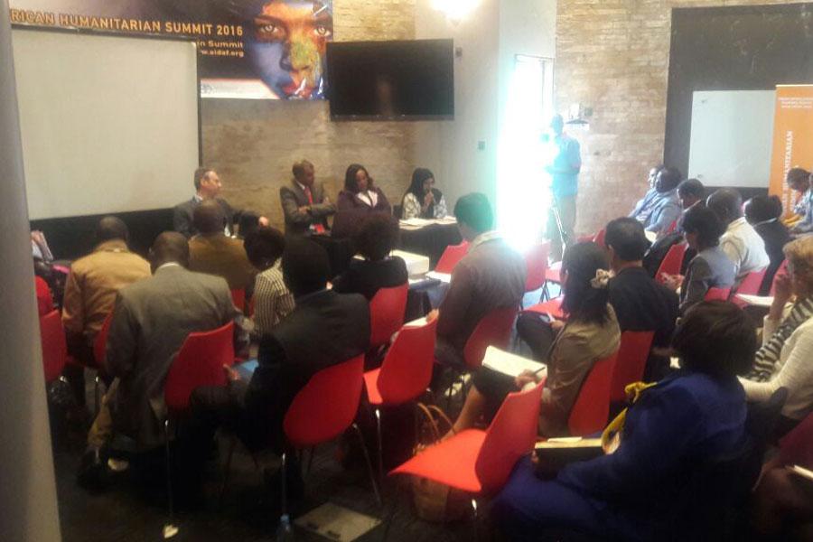 conference hall of Humanitarian Summit Kenya 2016