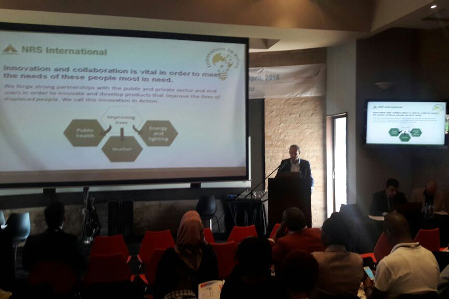 explaining about NRS International at Humanitarian Summit event in Kenya 2016
