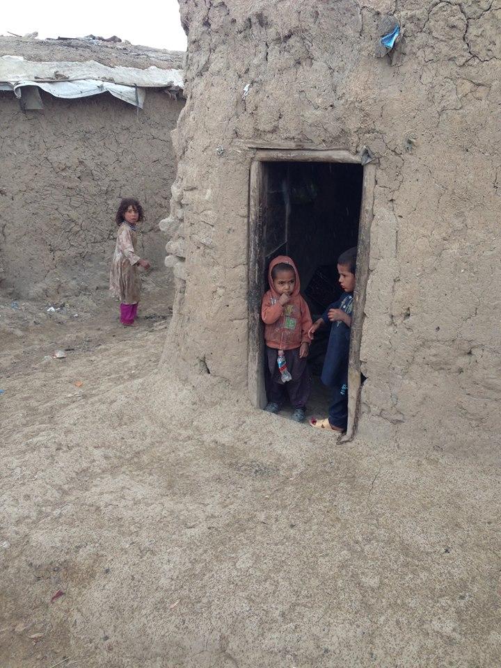 front door of refugee house in Afghanistan 2016