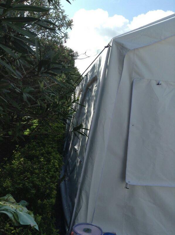 front left corner of legend tents in Nepal 2016