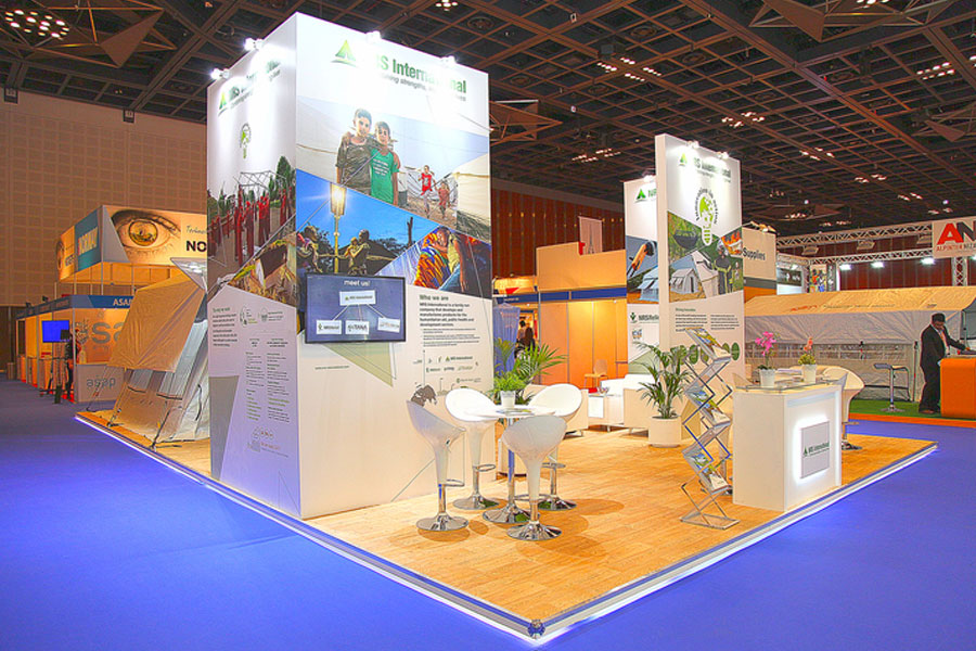 front left view of NRS Relief booth at DIHAD 2016
