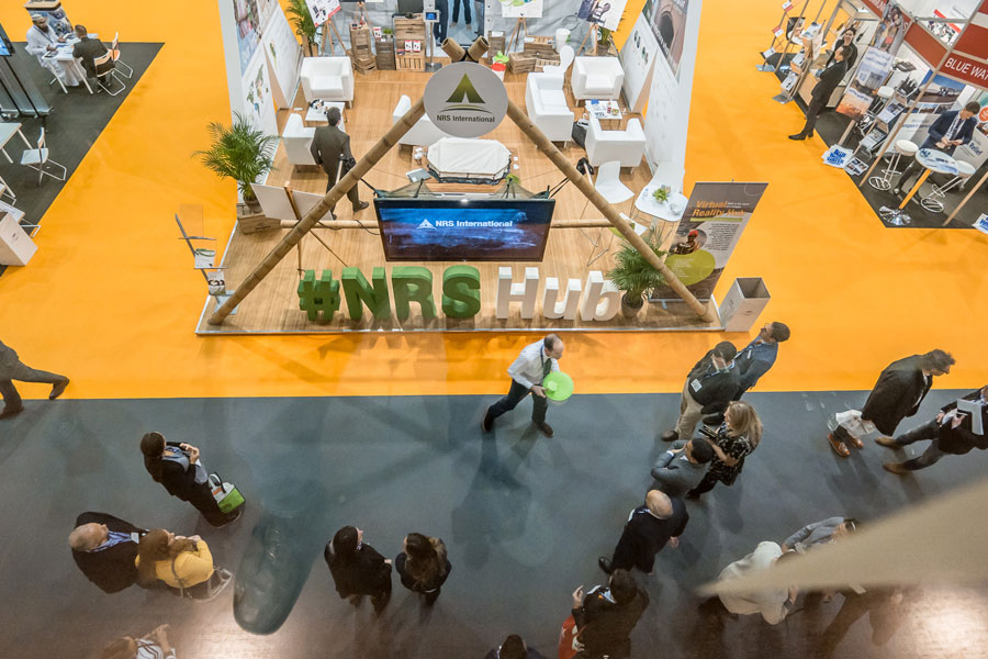 full Ariel view of NRS Relief at AidEx event 2016 Brussels Expo