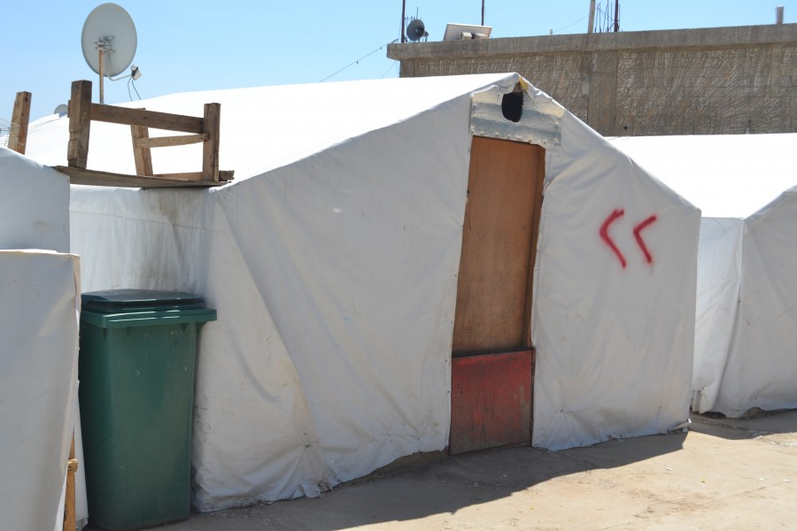 home of refugees at Lebanon in 2017
