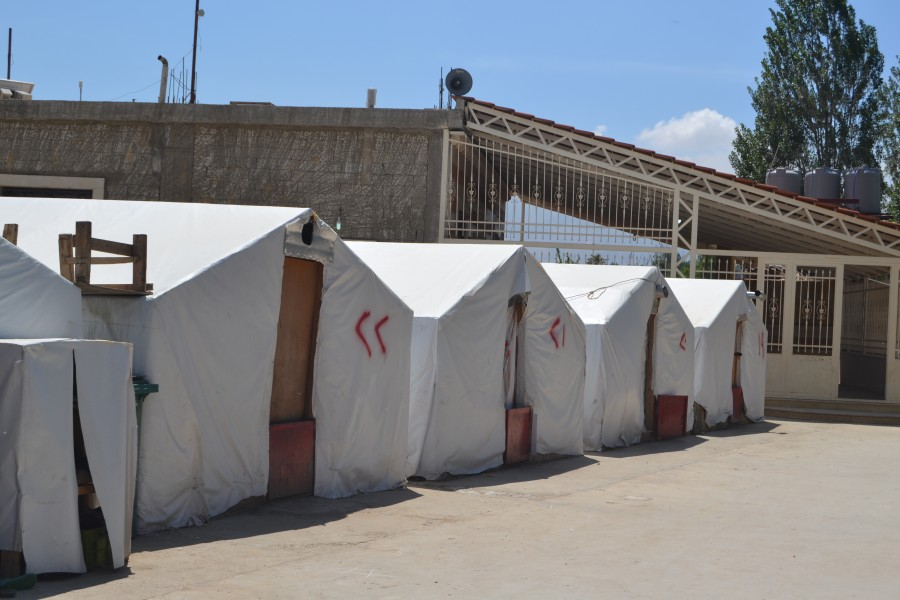 homes of refugees at Lebanon 2017