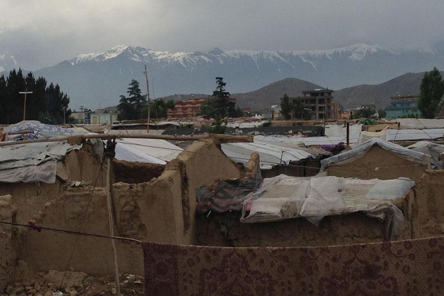 houses of Afghani people at Afghanistan 2016