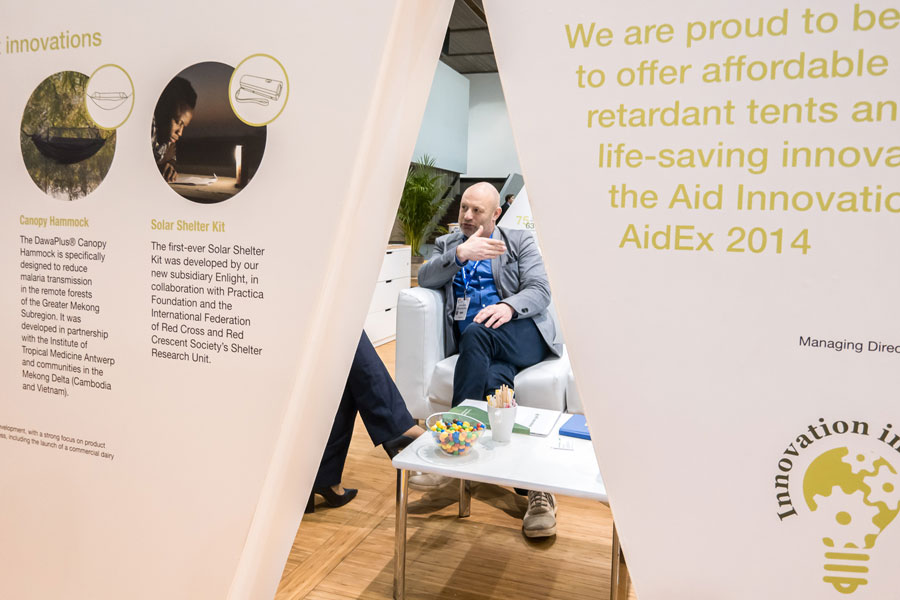 Innovation flex of NRS Relief at AidEx event 2016 Brussels Expo