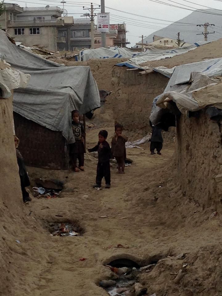 living area of Afghan refugees in Afghanistan 2016