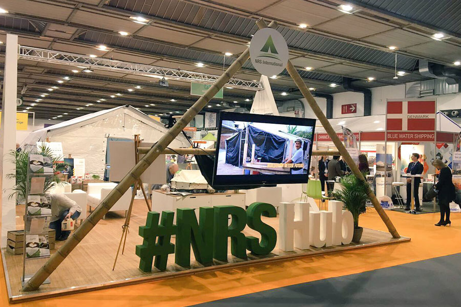 NRS Hub booth at AidEx event 2016 Brussels Expo