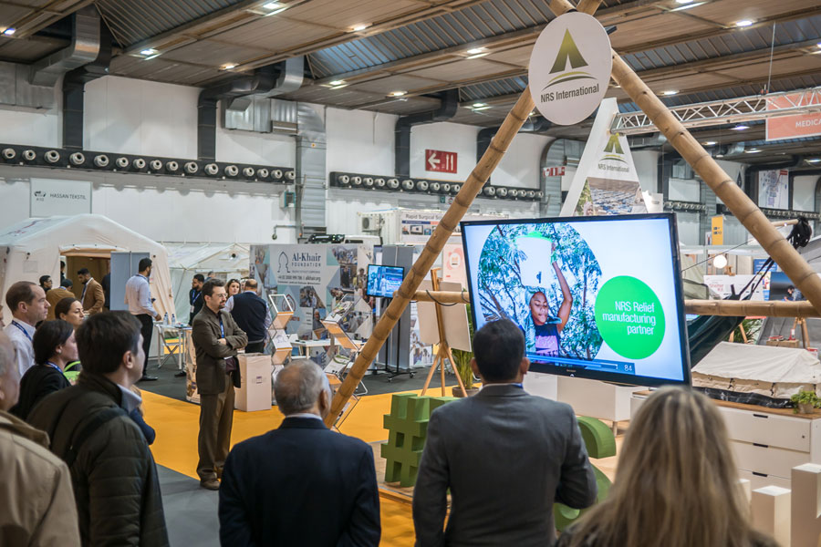 NRS International booth at AidEx 2016 Brussels Expo