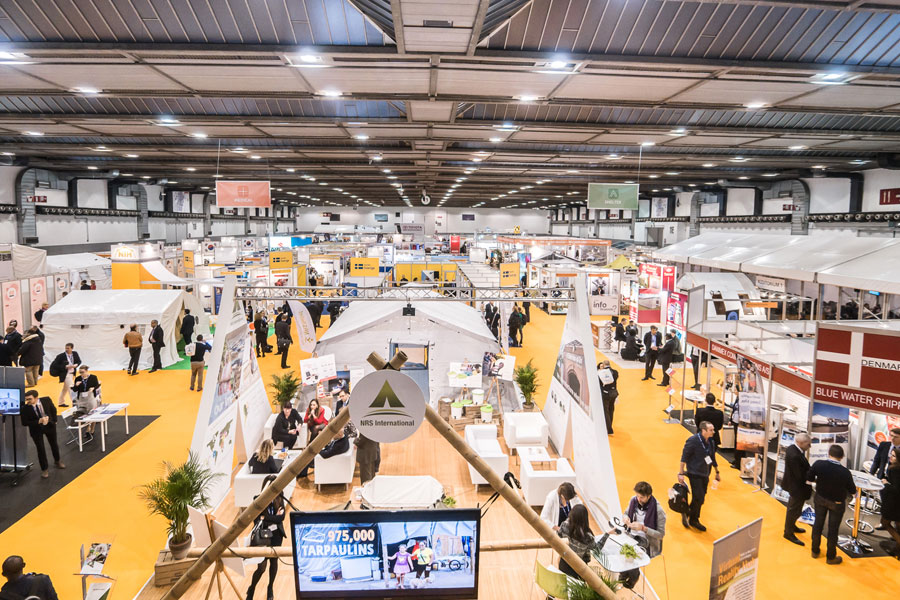 NRS Relief booth in AidEx event 2016 Brussels Expo