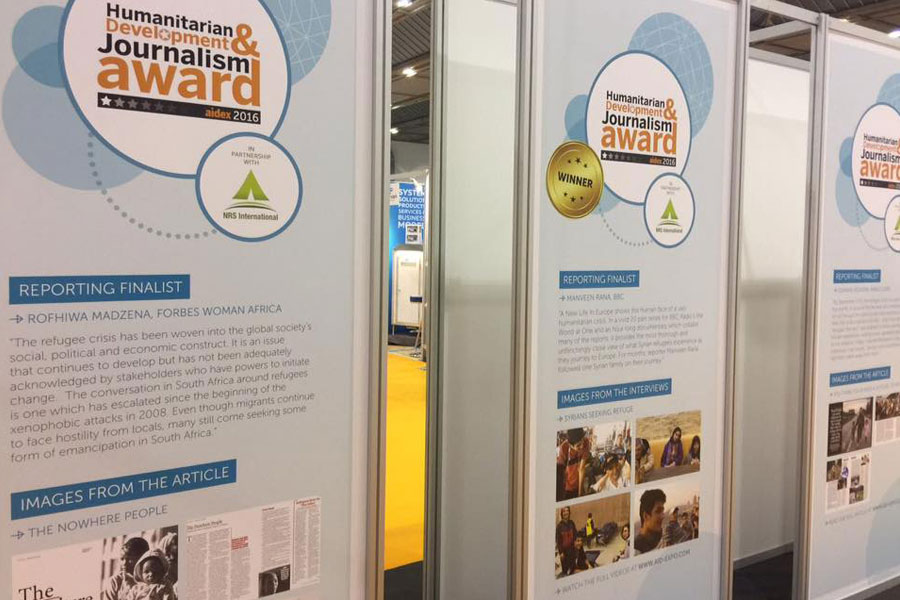 NRS Relief flex with humanitarian development at AidEx event 2016 Brussels Expo