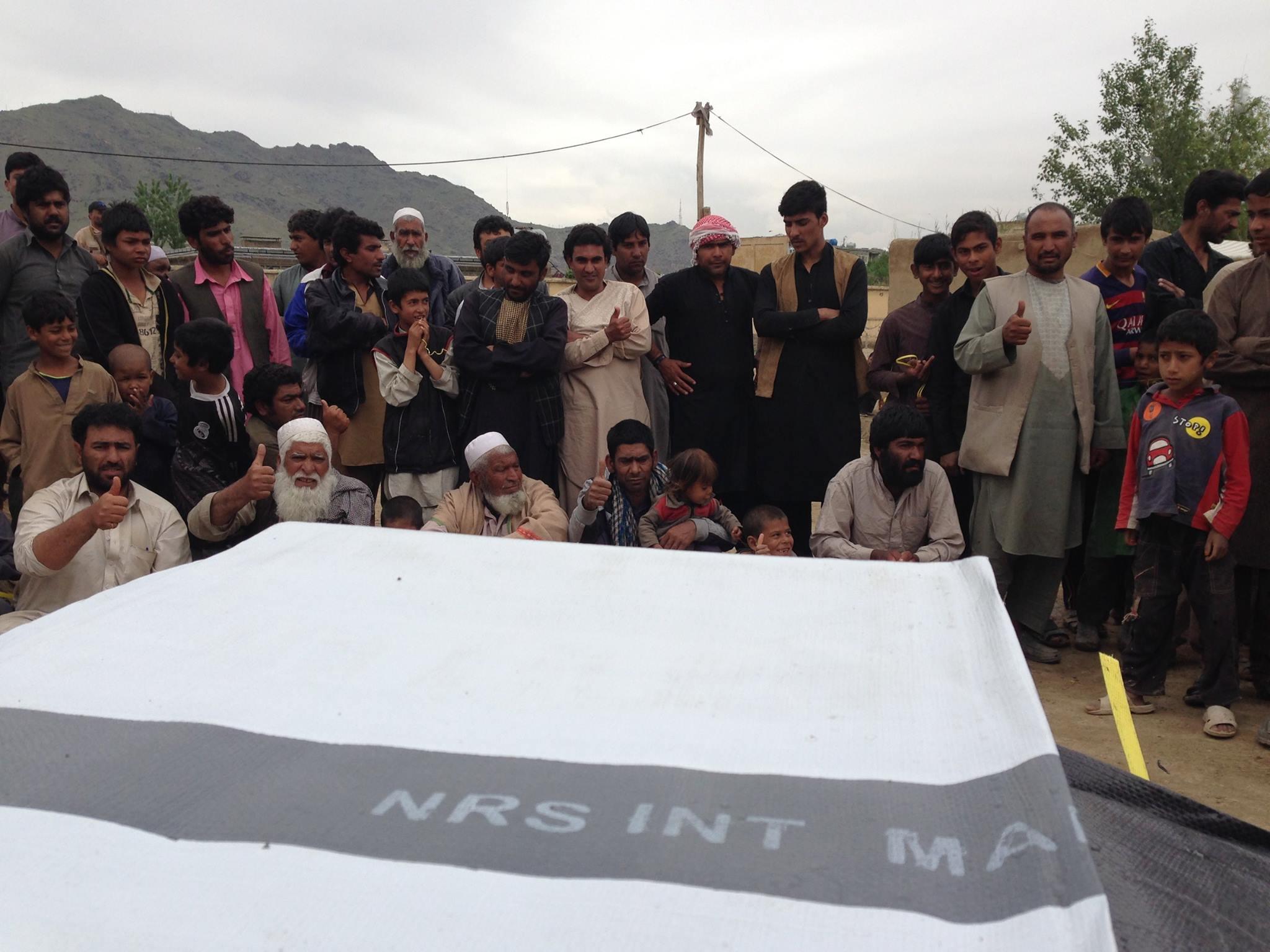 NRS Relief giving tarpaulins in Afghanistan 2016