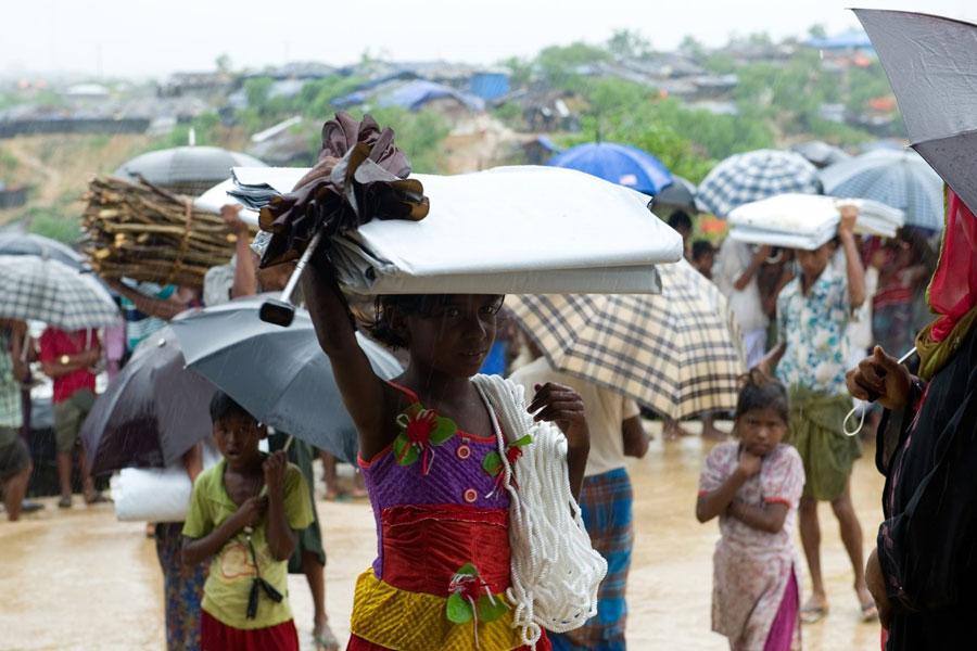 NRS Relief helping Rohingya refugees at Kutupalong Bangladesh