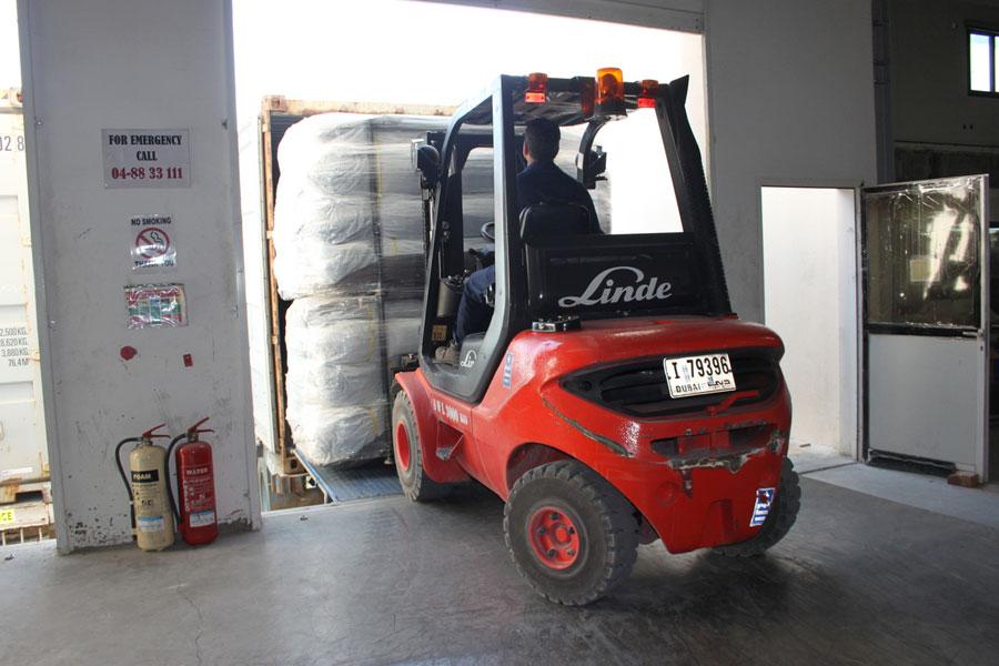 NRS Relief logistics Dubai warehouse 2016