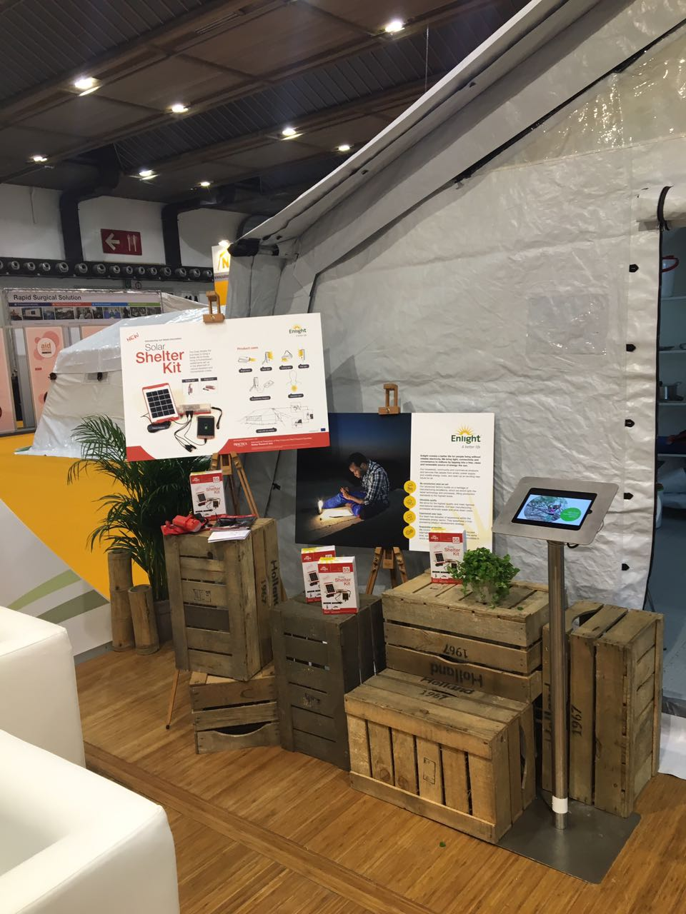 NRS Relief products at AidEx event 2016 Brussels Expo