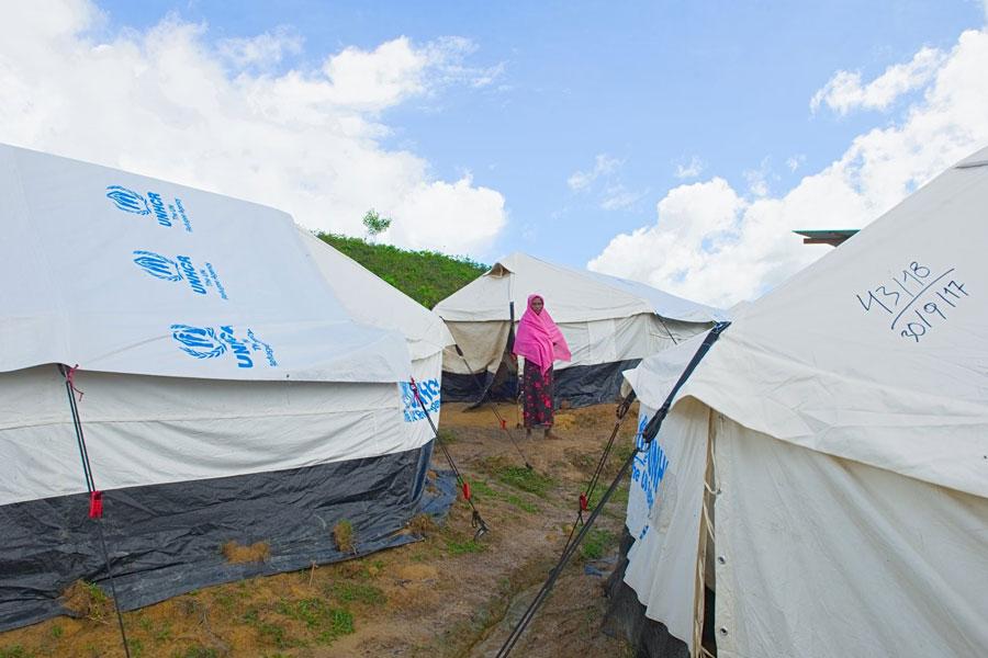 NRS Relief provides tent to Rohingya refugee at Kutupalong Bangladesh