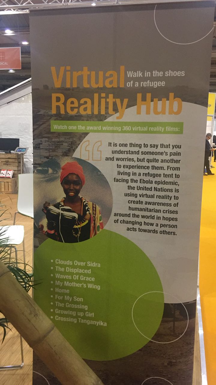 NRS Relief standee at AidEx event 2016 Brussels Expo