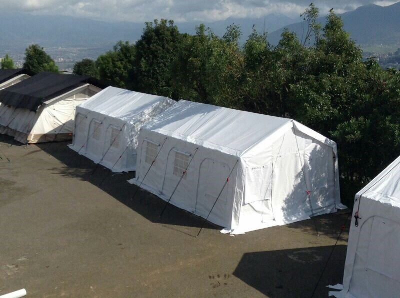 NRS Relief supplied legend tents in Nepal 2016