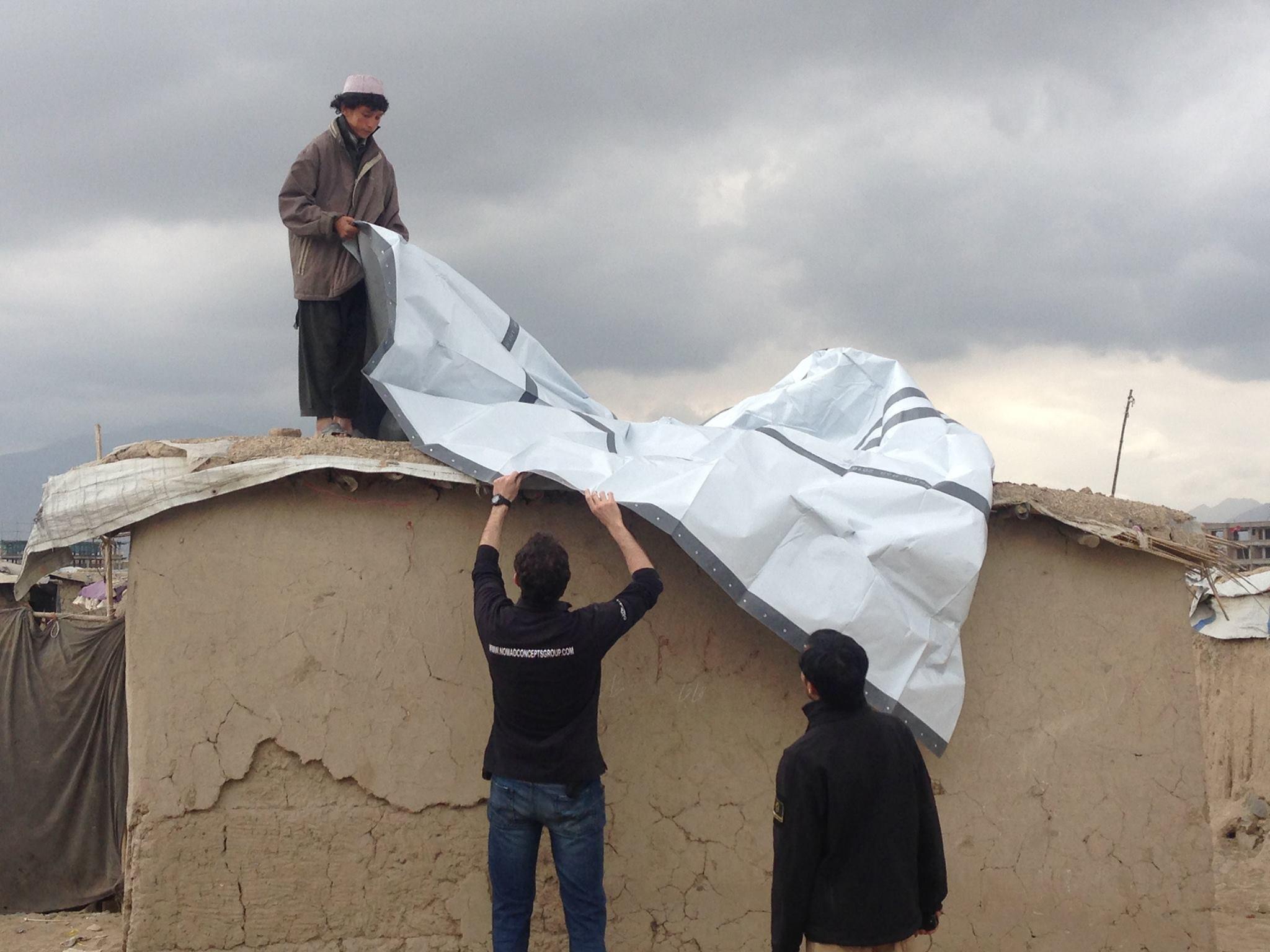 NRS Relief tarpaulins in Afghanistan 2016