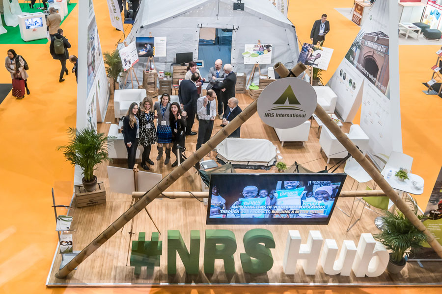 NRS Relief team on booth at AidEx event 2016 Brussels Expo