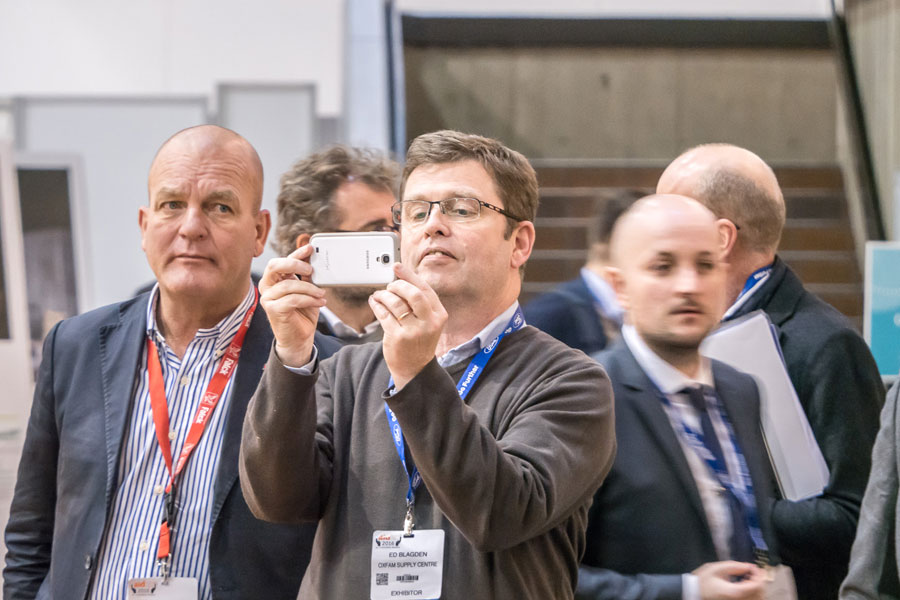 people visits at AidEx event 2016 Brussels Expo