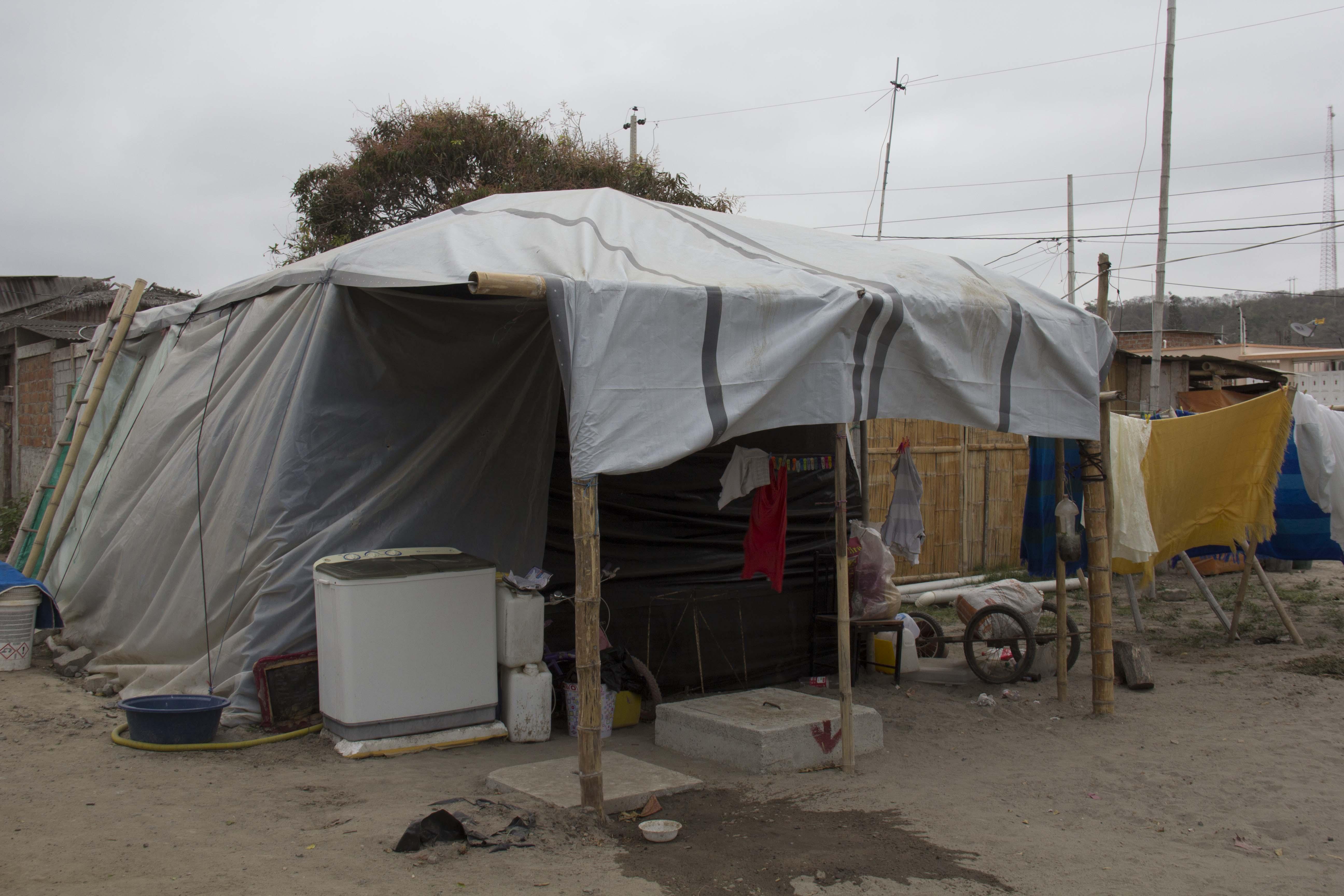 refugee home at Ecuador in 2016