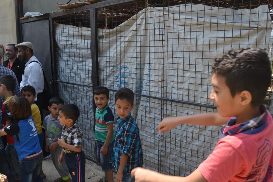 refugee kid playing at Lebanon in 2017