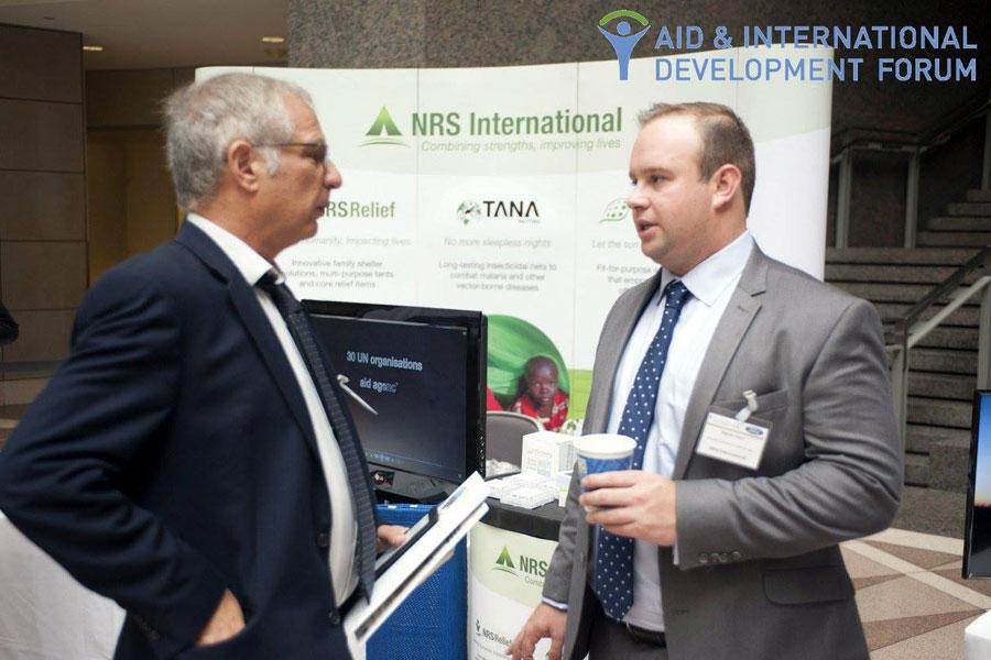 representative explaining about NRS Relief at AIDF Washington 2015