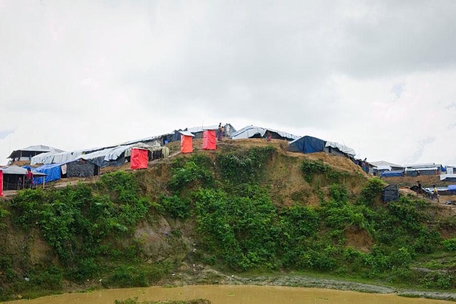 Rohingya refugee camps on hill at Kutupalong camp Bangladesh