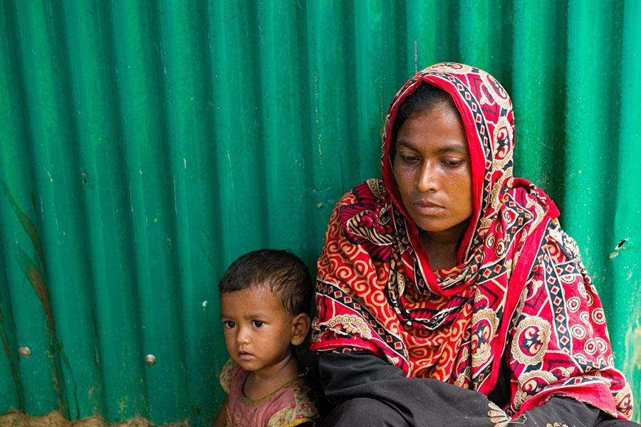 Rohingya women refugees at Kutupalong camp Bangladesh