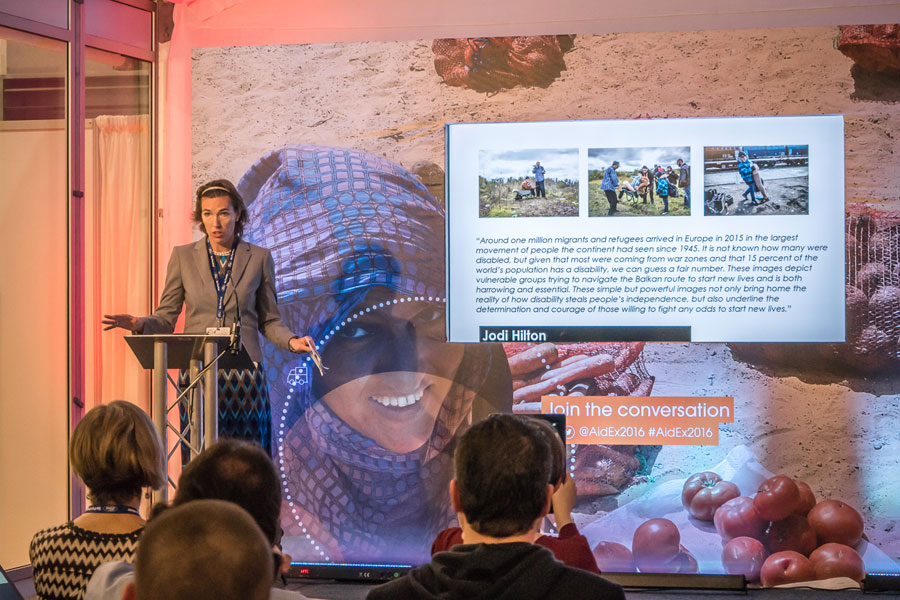 Wieke the guest of Honour at AidEx event 2016 Brussels Expo