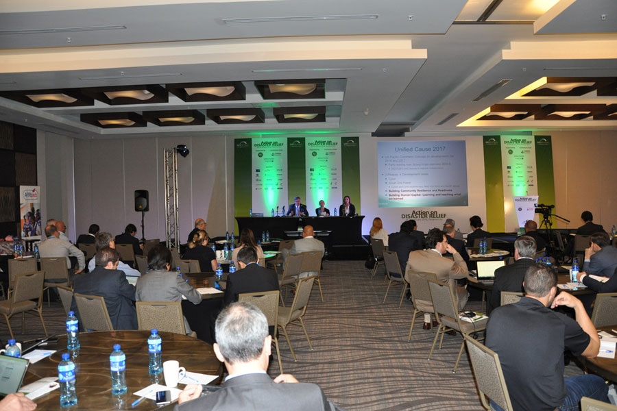 discussion panel at Disaster Relief Summit- n Panama 2016