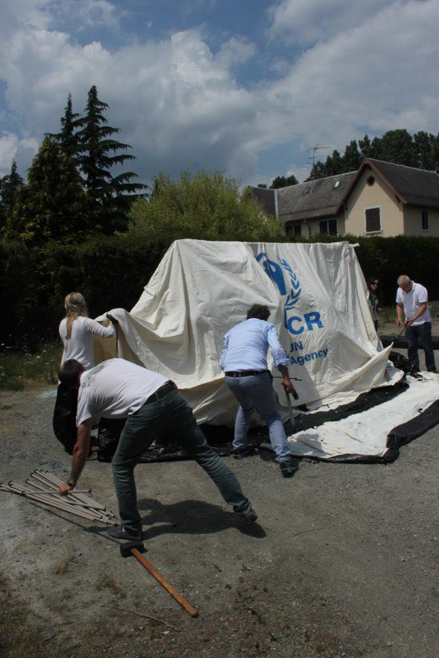 fire retardant field test by NRS Relief in France 2014