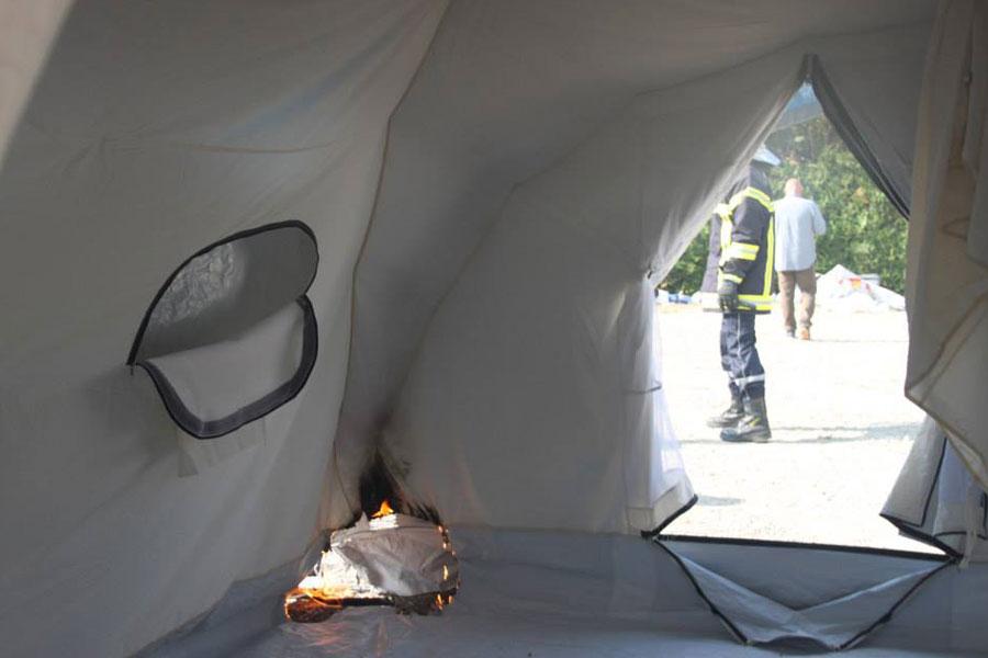 fire retardant field test France in 2014