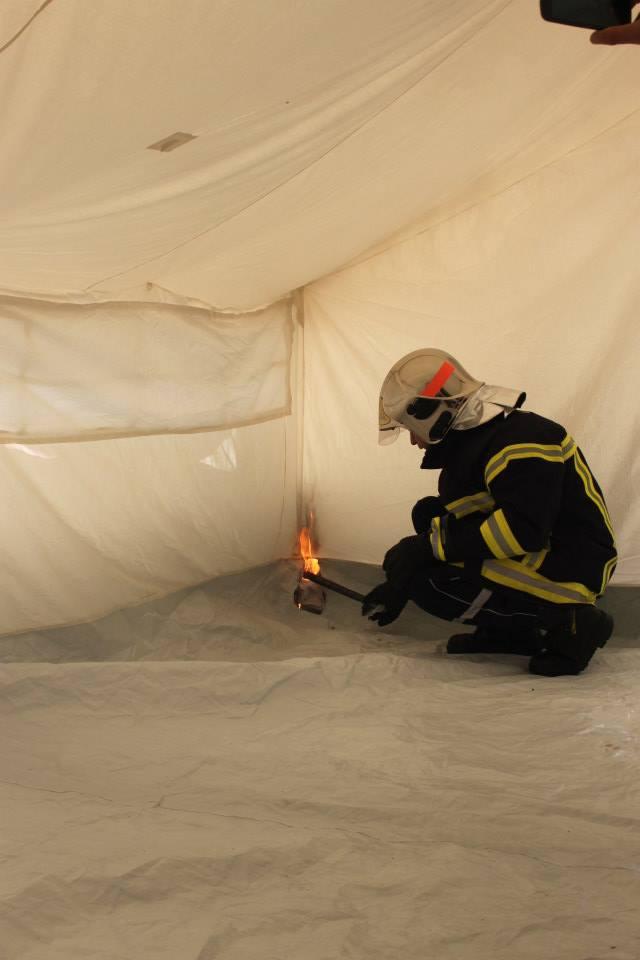 fire retardant test France in 2014