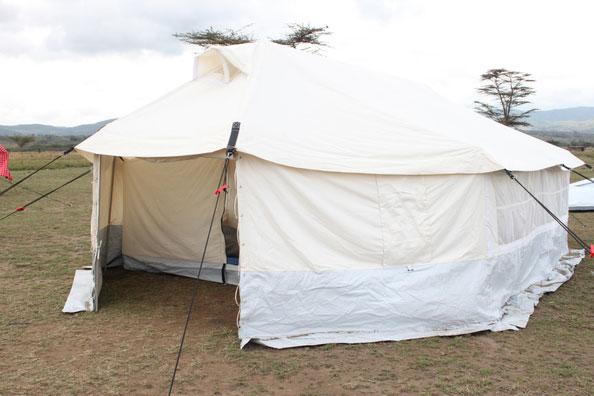 front tent door of NRS Relief core relief items in Kenya 2015