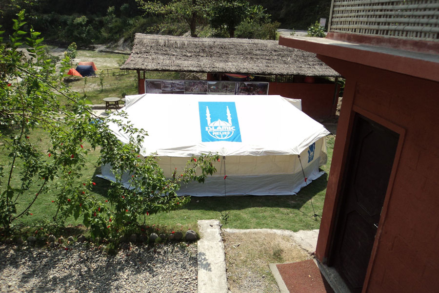 Islamic relief UK tents spotted in Nepal