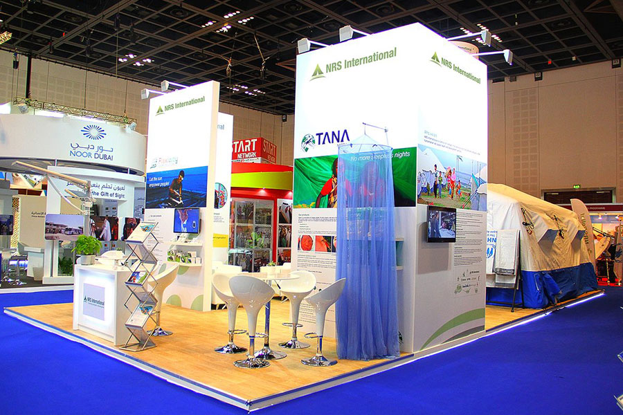 left right corner of NRS Relief booth at DIHAD 2015