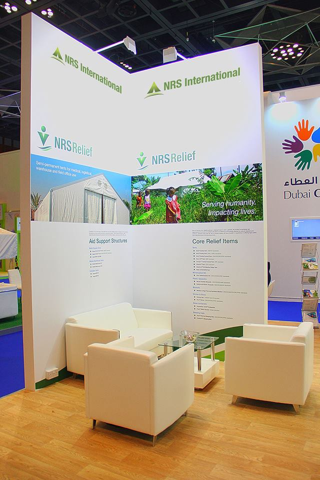 NRS Relief flex on their booth at DIHAD 2015