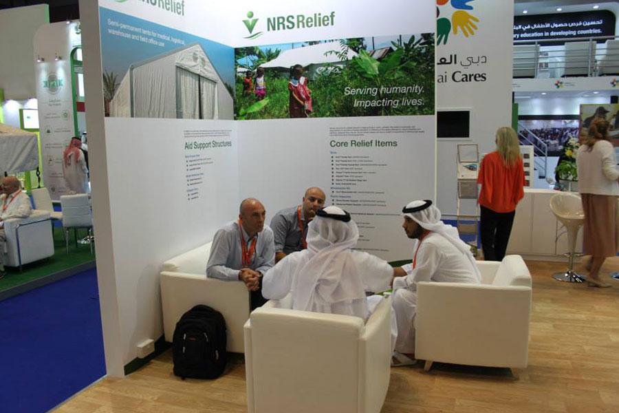 NRS Relief team explaining with Dubai locals-at-dihad-2015