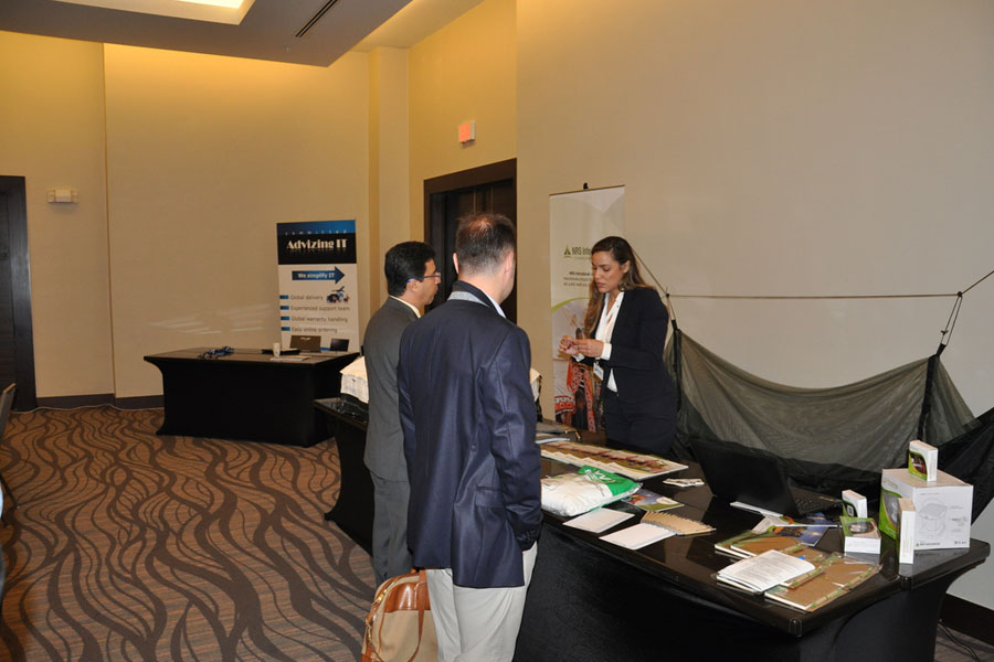 NRS Representative explaining their company at Disaster Relief Summit in Panama 2016