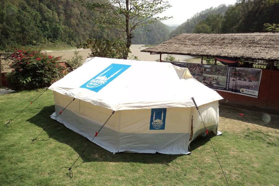 NRS tent in use